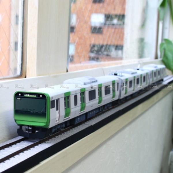 کاردستی مترو(قطار شهری) سبز رنگ-تصویر اصلی