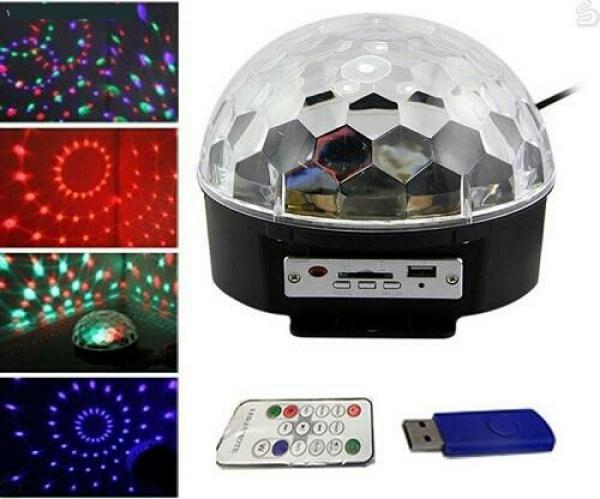 دستگاه رقص نور  LED کریستالی و MP3 Player به همراه ریموت کنترل-تصویر اصلی