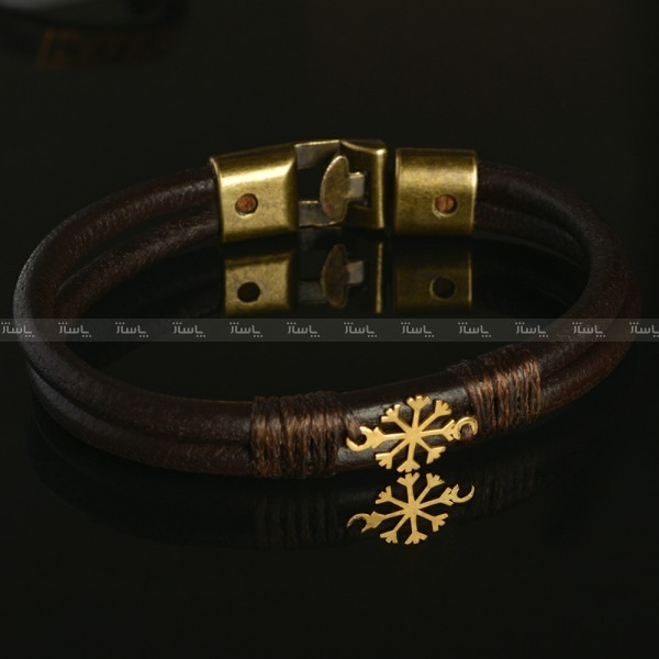دستبند چرم برف (۴۰۰ سوت ) طلا ۱۸ عیار-تصویر اصلی