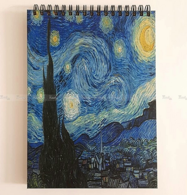 دفتر جلد سخت شب پر ستاره-تصویر اصلی
