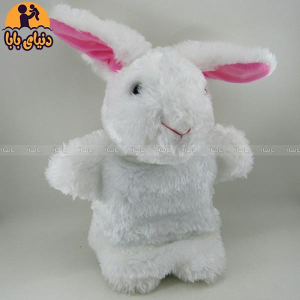 عروسک نمایشی خرگوش سفید برند گلدونه-تصویر اصلی