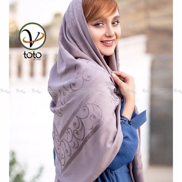 روسری حریر نخ برند توتو-تصویر اصلی