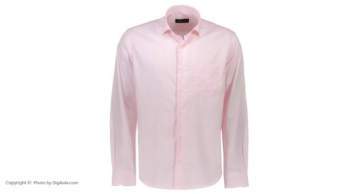 پیراهن جعبه ای مردانه ادموند طرح ساده صورتی روشن-تصویر اصلی