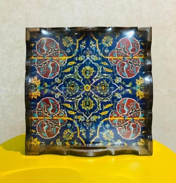 سینی مربع دکوپاژ شده مدل سنتی 2-تصویر اصلی