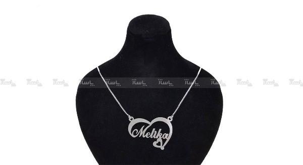 گردنبند نقره اسم ملیکا-تصویر اصلی