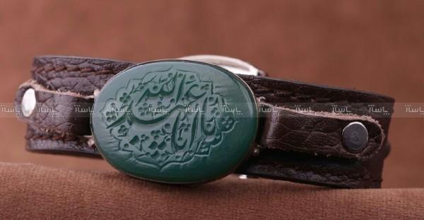 دستبند عقیق سبز خطی-تصویر اصلی