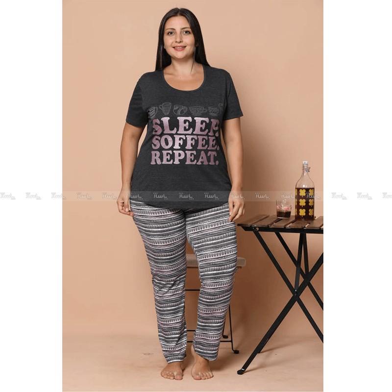 تاپ و شلوار سایز بزرگ پنبه ای سکسن طرح sleep-تصویر اصلی