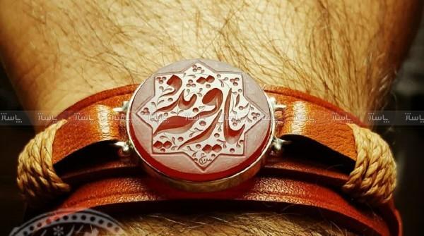 دستبندچرم گاوی اصل-تصویر اصلی