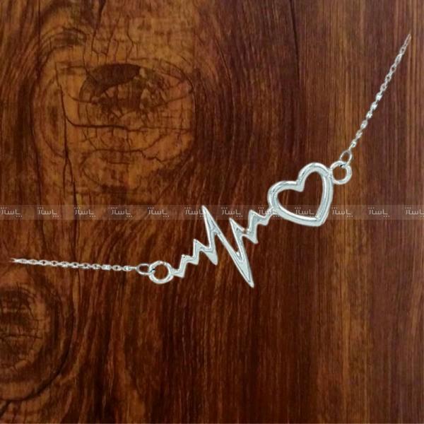 گردنبند نقره مدل ضربان قلب heartbeat-تصویر اصلی