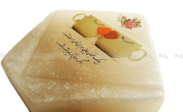 چراغ خواب سنگ نمک مدل شعر عاشقانه سایز بزرگ + هدیه-تصویر اصلی