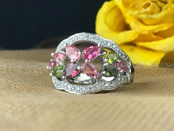 انگشتر جواهری زیبای ترمالین اصل-تصویر اصلی