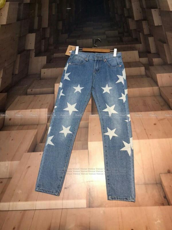 شلوار جین طرح ستاره-تصویر اصلی