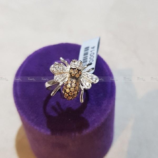 انگشتر نقره (پایه ترک) طرح زنبور-تصویر اصلی