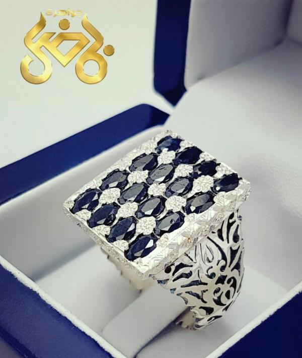 انگشتر نقره جواهری با کیفیت عالی-تصویر اصلی