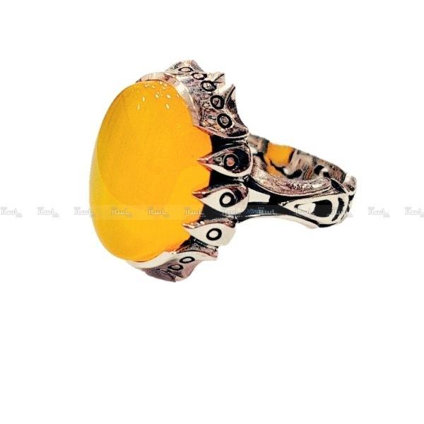 انگشتر نقره مردانه مدل p580-تصویر اصلی