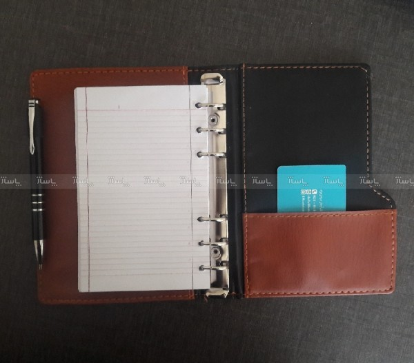 دفترچه کلاسوری چرم-تصویر اصلی