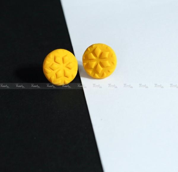 گوشواره میخی زرد رنگ-تصویر اصلی