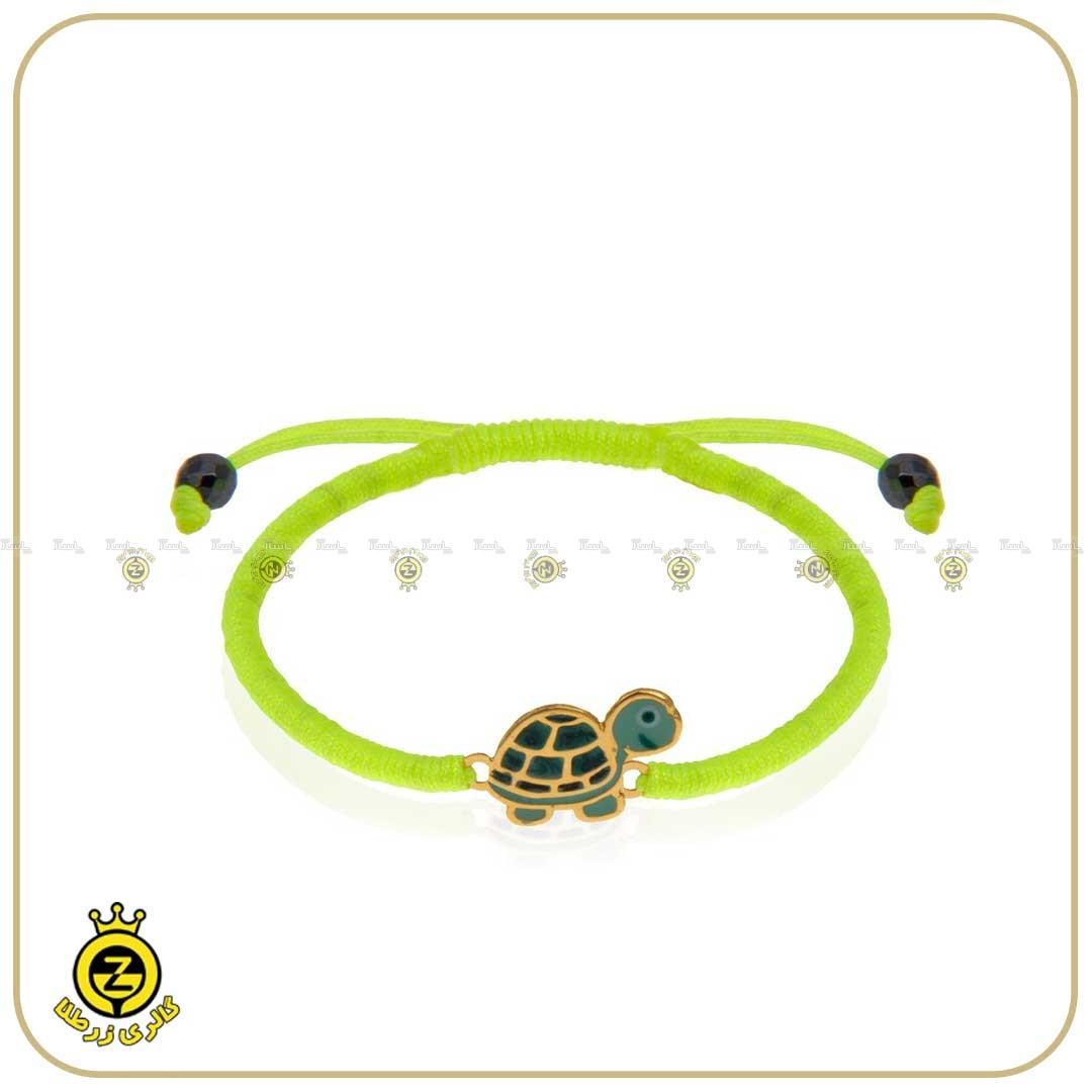دستبند طلای کودکانه با طرح لاکپشت-تصویر اصلی