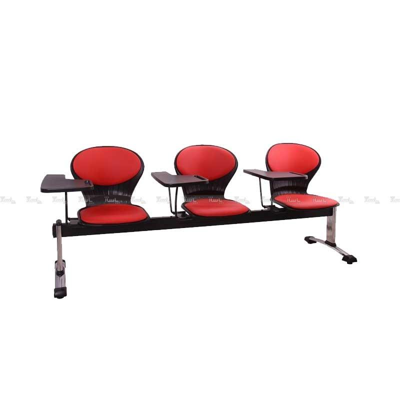 صندلی انتظار سه نفره دسته دار مدل صدفی-تصویر اصلی