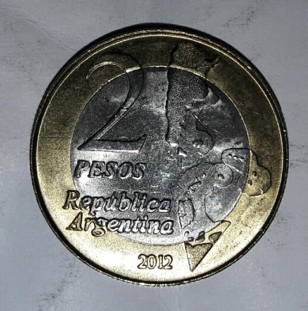 سکه ۲ پزو آرژانتین یادبودی-تصویر اصلی