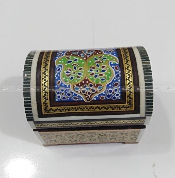 جعبه جواهرالات و زیورآلات خاتم کاری-تصویر اصلی