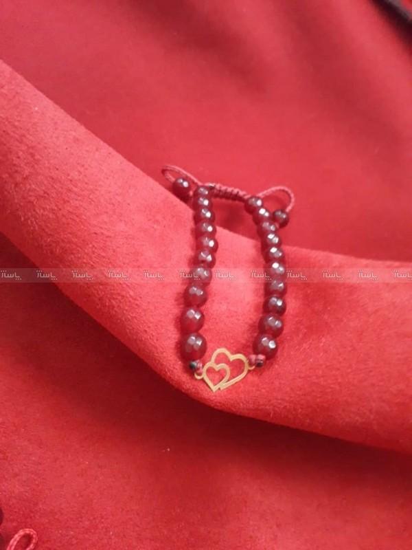 دستبند دو قلب (۱۰۰ سوتی ) طلا ۱۸ عیار-تصویر اصلی