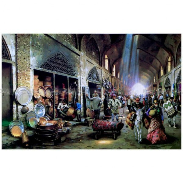 پازل ۱۰۰۰ تکه طرح بازار-تصویر اصلی