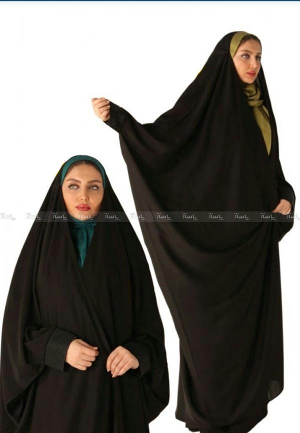 چادر عبایی مچ دار پارچه کرپ کره ای-تصویر اصلی