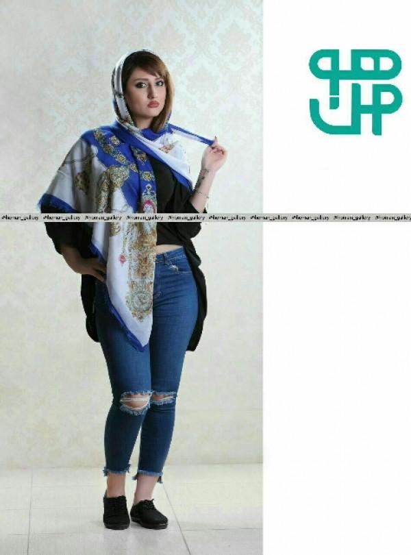 روسری نخ پنبه دیجیتالی-تصویر اصلی
