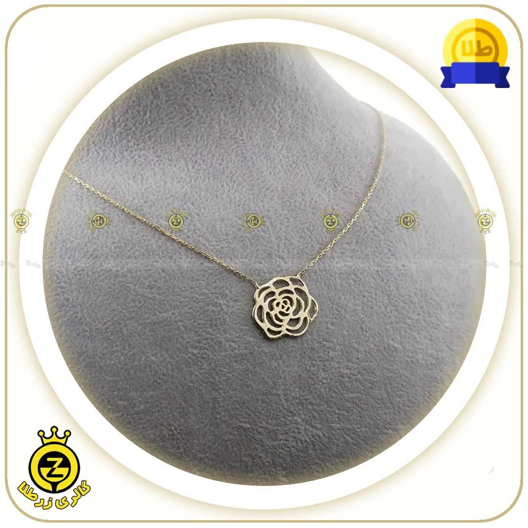گردنبند طلا طرح گل کوچک-تصویر اصلی