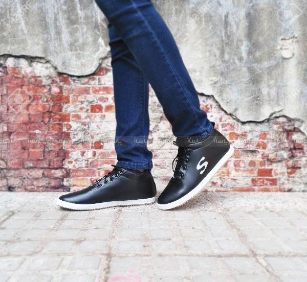 کفش کتانی نیم ساق طرح S-تصویر اصلی