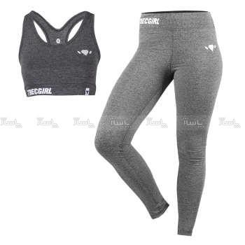 ست نیم تنه و لگ ورزشی زنانه ترک ویر مدل Gray Strong 18                             Trec Wear Sport bra Leggings Set Strong Gray 18-تصویر اصلی