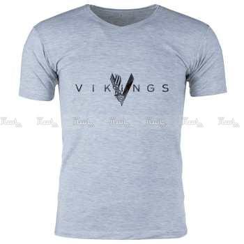 تی شرت ملانژ  مردانه گالری واو طرح Vikings کد CT80217-تصویر اصلی