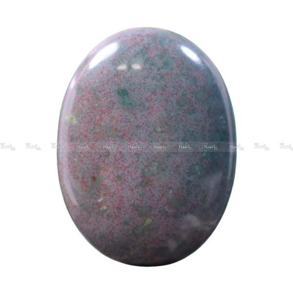 نگین سنگ خون اصل تراش بیضی کد N104-تصویر اصلی