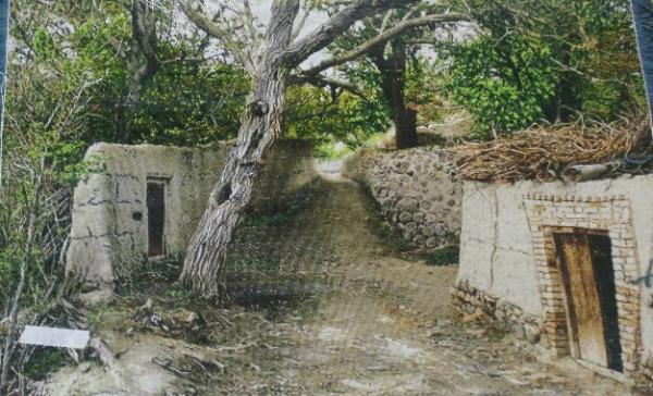 تابلو منظره کوچه باغ دو درب-تصویر اصلی