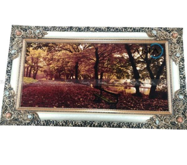 تابلو فرش جنگل پاییزی-تصویر اصلی