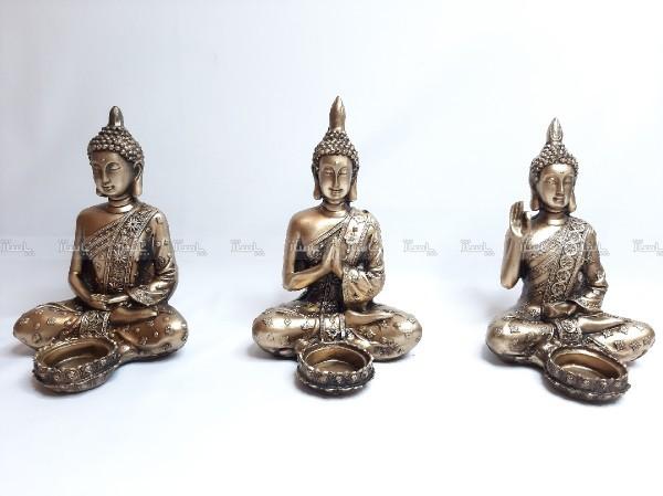 جا شمعی بودا سه طرح متفاوت-تصویر اصلی
