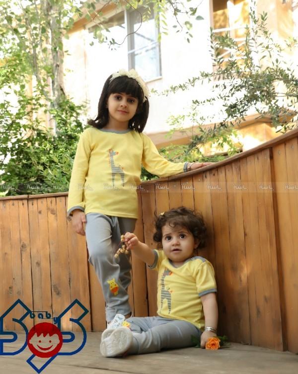مدل اسپرت دخترانه، پسرانه زرد زرافه سایز ۱،۲،۳،(یقه دکمه)-تصویر اصلی