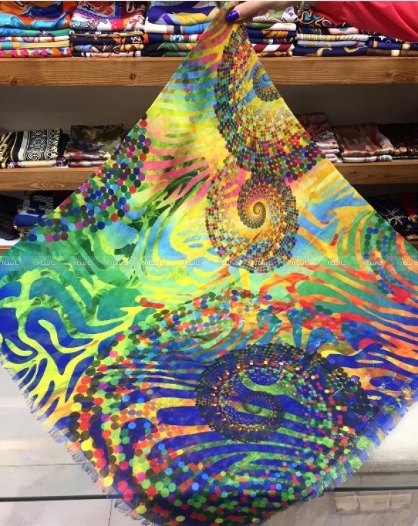 روسری نخی طرح کوبیسم-تصویر اصلی
