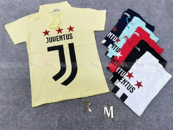 تی شرت یقه آرشال پسرانه طرح یوونتوس-تصویر اصلی