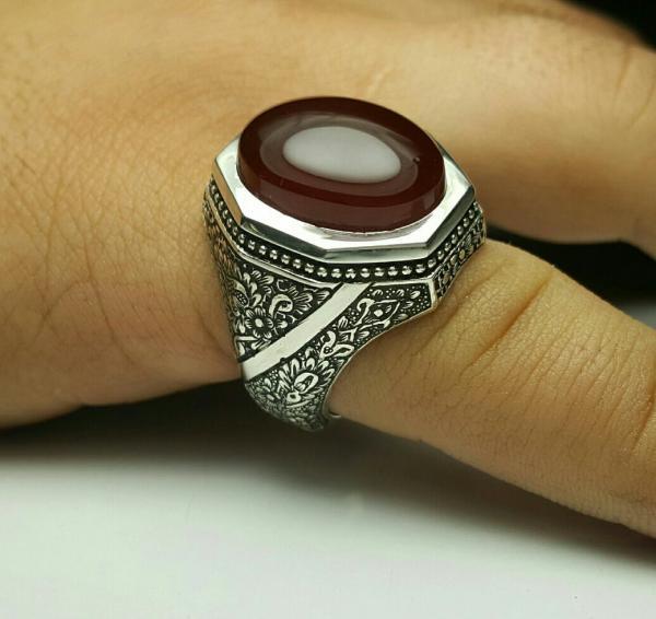 انگشتر نقره تمام دستساز-تصویر اصلی