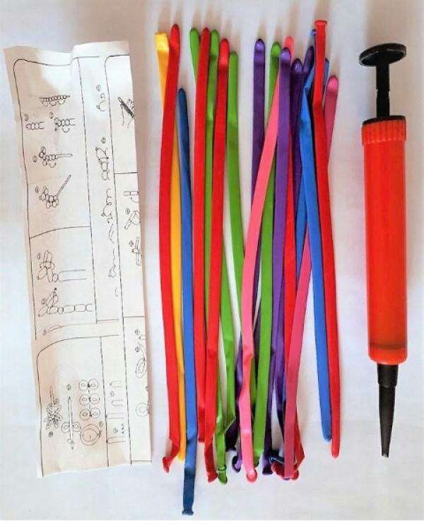 20 عدد بادکنک لوله ای همراه با تلمبه-تصویر اصلی