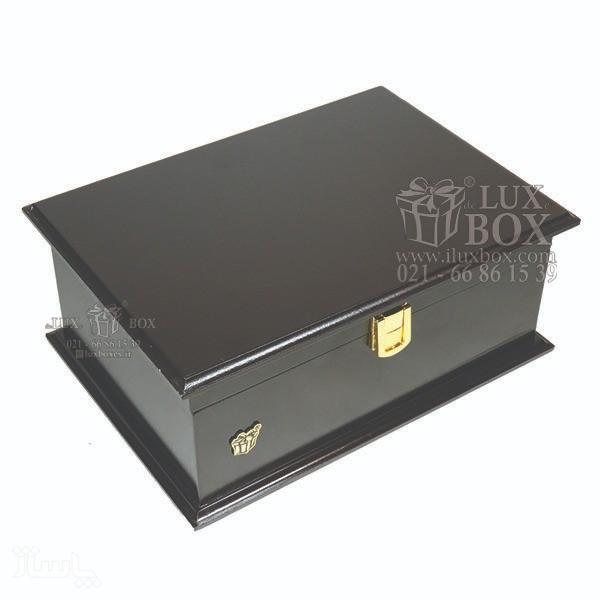 جعبه آجیل خشکبار جعبه دمنوش جعبه پذیرایی چوبی لوکس باکس کد LB 103 - B-تصویر اصلی