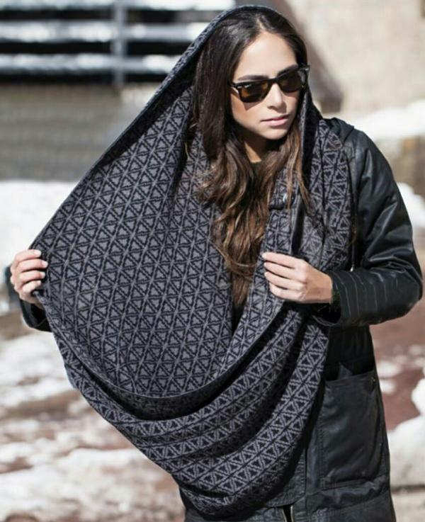 شال روسری طرح مثلث ۶ پر تارتن-تصویر اصلی