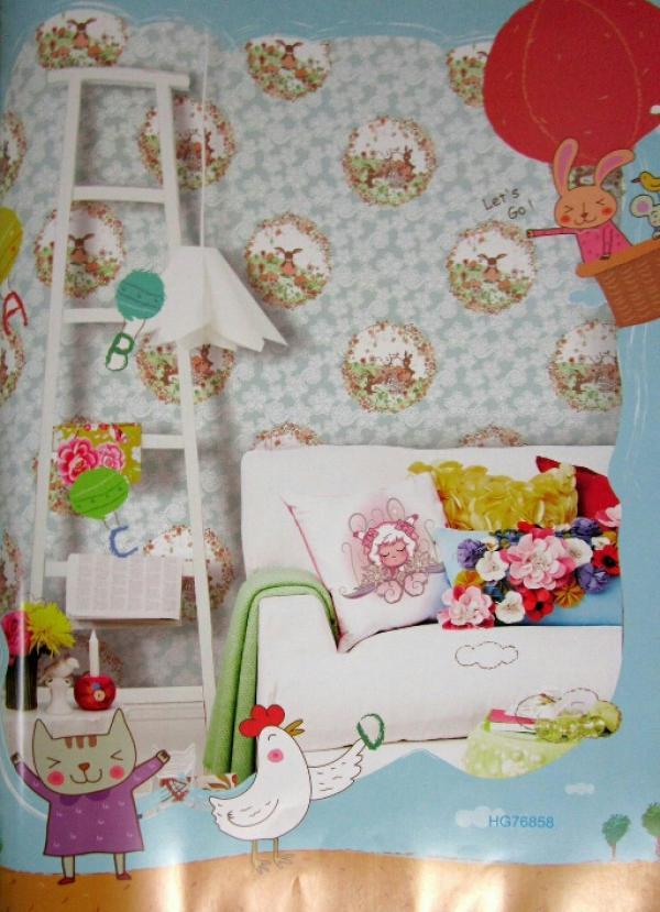 کاغذ دیواری اتاق کودک هپی گیرل کد ۷۶۸۵۸-تصویر اصلی
