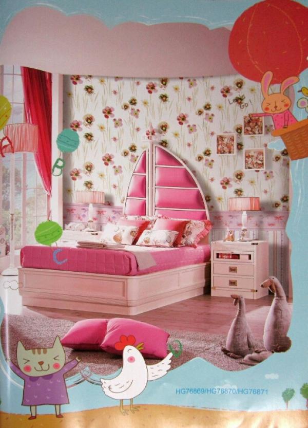 کاغذ دیواری اتاق کودک کد ۷۶۸۶۹-تصویر اصلی