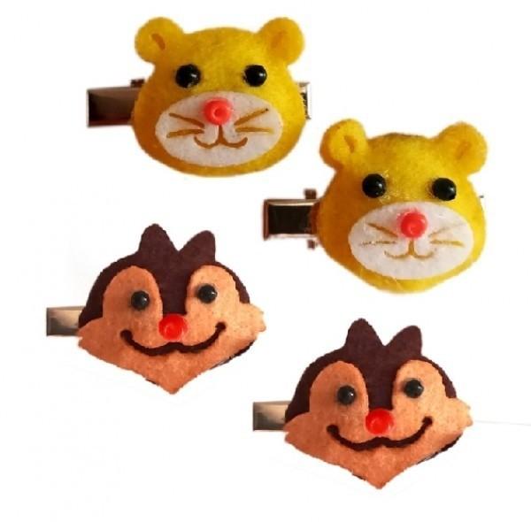 گیره مو طرح خرس و سنجاب-تصویر اصلی