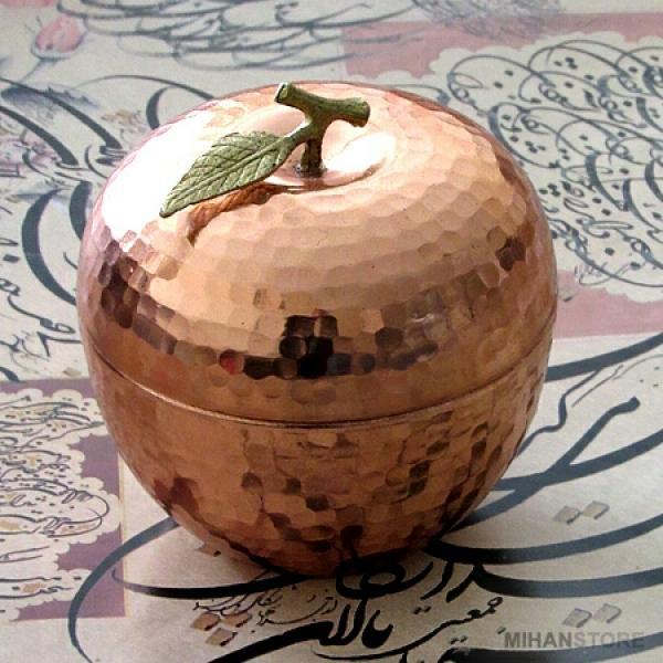 قندان مسی طرح سیب-تصویر اصلی