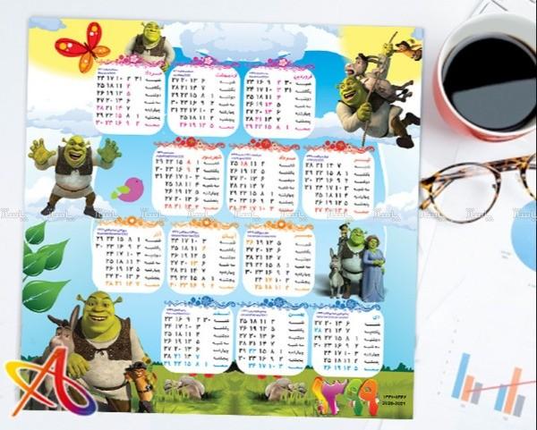 تقویم دیواری کودکانه مدل شـرک-تصویر اصلی