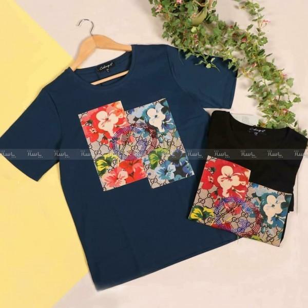 تی شرت طرح گل-تصویر اصلی